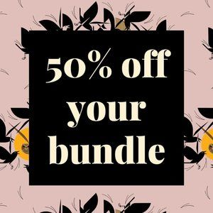 2+ Items = 50% Off!